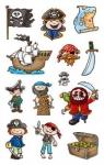Naklejki papierowe. Piraci
