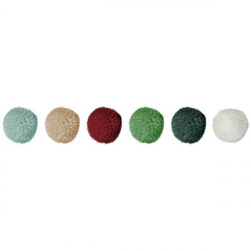 Pompony pastelowe mix - 18 szt (412941)