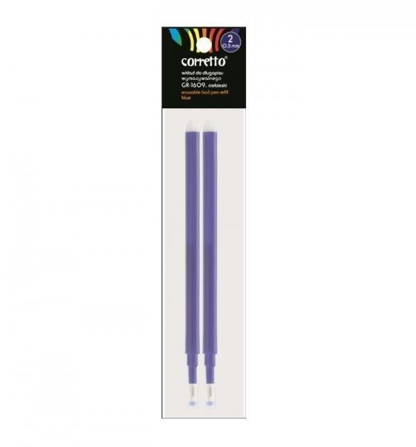 Wkłady do długopisu wymazywalnego, 2 szt. - niebieskie (394090)
