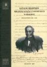 Katalog rękopisów Biblioteki Książąt Czartoryskich w Krakowie Sygnatury 5320-5441