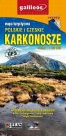 Karkonosze Szlaki turystyczne. Mapa panorama karkonoszy