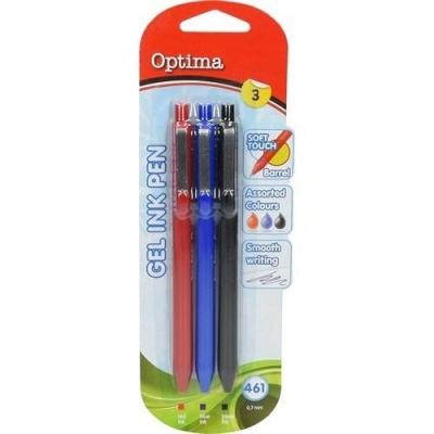 Długopis żelowy 461 3 kolory OPTIMA