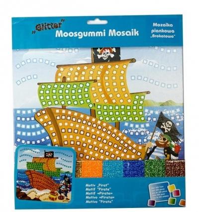 Mozaika piankowa brokatowa Pirat