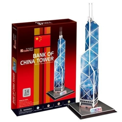 PUZZLE 3D WIEŻOWIEC BANK OF CHINA TOWER 14 EL. .