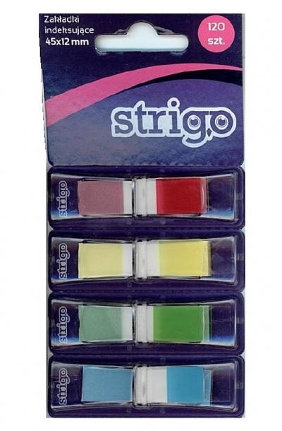 Zakładki indeksujące 45x12mm 4 kolory STRIGO