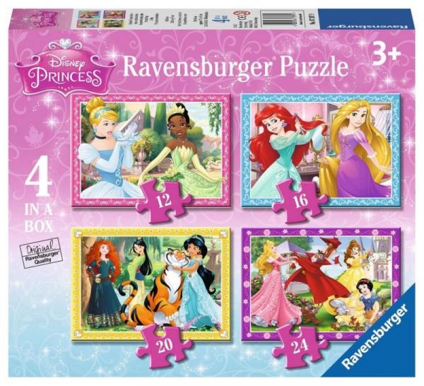 Puzzle Księżniczki Disneya 4w1 (073979)