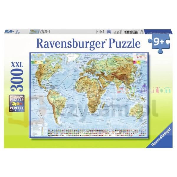 Puzzle XXL 300 Polityczna mapa świata (130979)