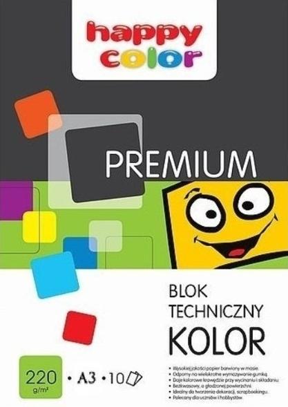 Blok techniczny A3/10 - kolorowy