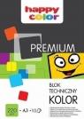 Blok techniczny A3/10 - kolorowy220g/m2