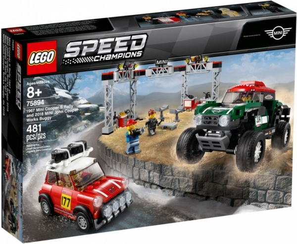 Lego Speed Champions: 1967 Mini Cooper S Rally oraz 2018 MINI John Cooper Works Buggy (75894)