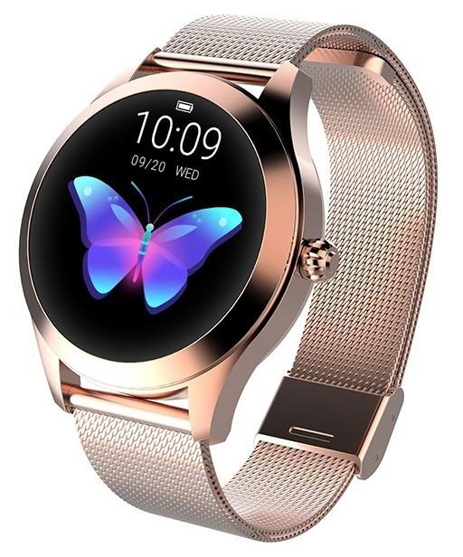 Smartwatch Women Naomi Złoty Stalowy (5903246284980)