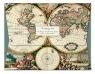 Papeteria Wallet Four Hemispheere World Map