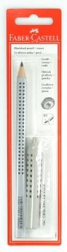 Ołówek Jumbo Grip B 1 sztuka + gumka Grip 2001 szara