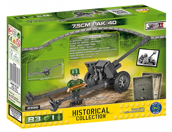 Cobi: Mała Armia. 7,5cm PaK 40 - niemiecka armata przeciwpancerna (2398)