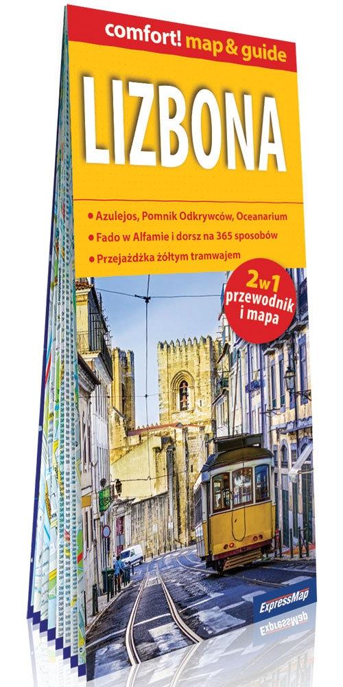 Lizbona laminowany map&guide 2w1: przewodnik i mapa
