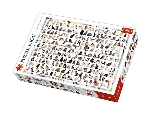 Puzzle 208 kotów 1000 (Uszkodzone opakowanie)