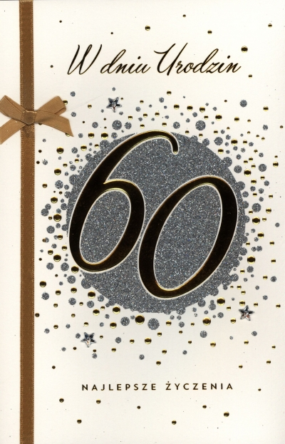 Karnet 60 Te urodziny A5 HM-100-739 HM-200-345