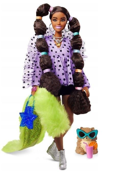Lalka Barbie Extra Zielone futro (GRN27/GXF10)