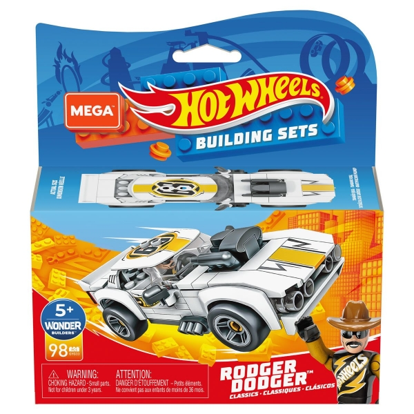 Mega Construx: Hot Wheels, Rodger Dodger Hunter Pojazd do zbudowania, klocki (GYG33)