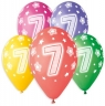 Balon gumowy Godan Premium Hel z nadrukiem 7, 13 cali/5 sztuk mix 330 mm 13cal (GS120/7)