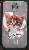 Piórnik podwójny z wyposażeniem My Little Friend Kot różowy