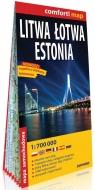 Comfort! map Litwa, Łotwa, Estonia 1:700 000 mapa praca zbiorowa