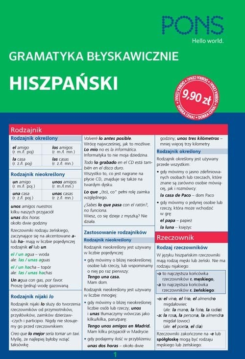 Gramatyka błyskawicznie hiszpański