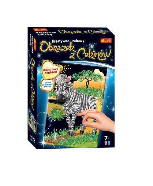 Cekinowy obrazek. Zebra (15160262)