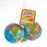 Piłka miękka 10cm globus 2szt