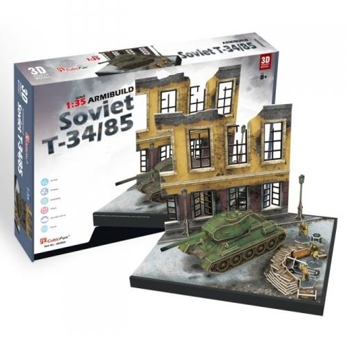 Puzzle 3D: Soviet T-34/85 (JS4202h)