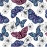 Karnet kwadrat CL0407 - Etniczne motyle