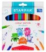 Kredki ołówkowe 24 kolory - Potworki
