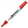 Marker pemanentny Uni 580B czerwony ścięta końcówka