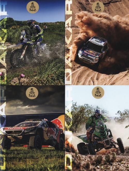 Zeszyt A5 Dakar w linie 54 kartki 10 sztuk mix