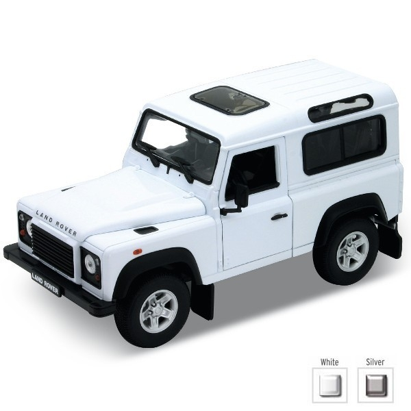 WELLY Land Rover Defende r (silver/white)