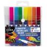 Flamastry zmieniające kolory Kidea, 8 pisaków (FZKKA)