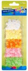 Cekiny pastelowe kwiaty 10mm