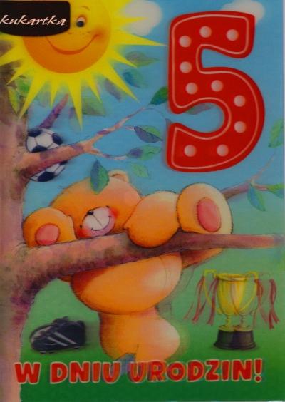 Karnet 5 lat chłopiec  3DV-074 .