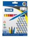 Flamastry Milan trójkątne 6112 - 24 kolory (06121224)