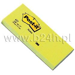 Notesy samoprzylepne Post It 38x51 żółty