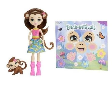 Enchantimals: Jajko niespodzianka - Lalka Merit Monkey & Compass