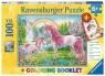 Puzzle 100 XXL: Magiczne jednorożce + książeczka