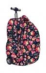 Plecak na kółkach kauczukowych St.reet Flowers 1 TB-01