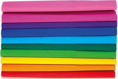 Bibuła marszczona 25x200 cm, 10 kolorów (407786)