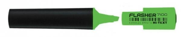 Zakreślacz Flasher zielony (10szt) HI-TEXT