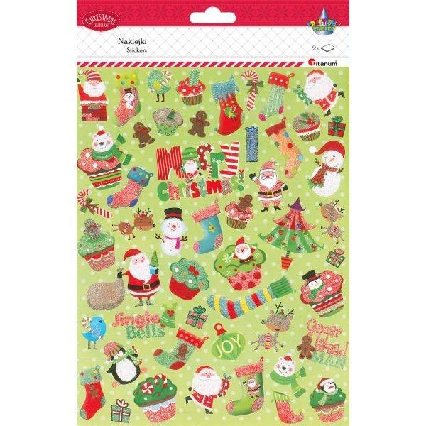 Naklejki papierowe świąteczne (414485)