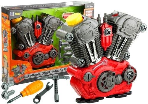 Duży silnik do rozkręcania świeci gra + narzędzia