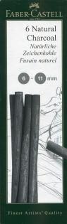 Monochrome Natural Grafit węglowy 6-11 mm - 6 sztuk