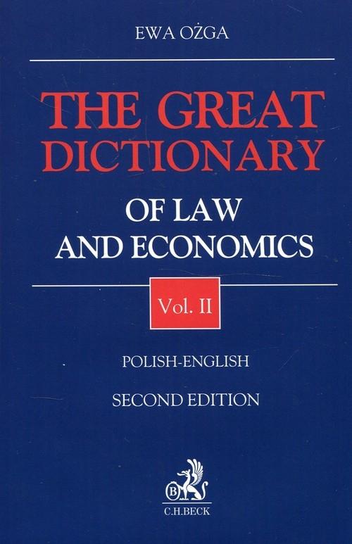 The Great Dictionary of Law and Economics 2 Polish - English Ożga Ewa
