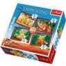 Wesołe igraszki - Puzzle 4w1 - 70 elementów (34099)